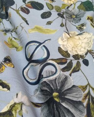 Holm Sown Online Fabric Shop Cotton Lawn - Anaconda Anthesis Dawn - Lady McElroy Fabrics