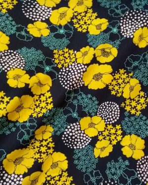 Holm Sown Online Fabric Shop Cotton Lawn - Fields of Gold Lady McElroy Fabrics