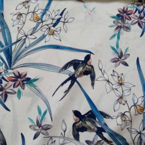 Holm Sown Online Fabric Shop Cotton Lawn - Thumbelina Swallow Lady McElroy Fabrics