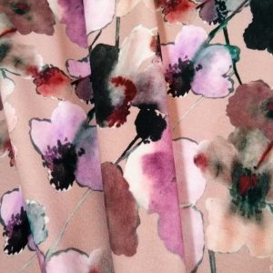 Holm Sown Online Fabric Shop Ponte Roma - Peach Schnapps Bloom Lady McElroy Fabrics