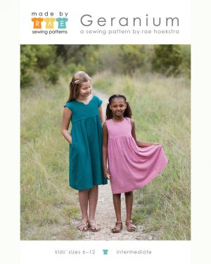 Holm Sown Online Fabric Shop - Geranium Dress and Top paper sewing pattern from Made by Rae - Sizes 6 - 9 years - dressmaking sewing pattern