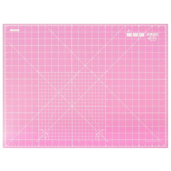Holm Sown Online Fabric & Haberdashery Shop - Pink Olfa Self Healing Rotary Cutting Mat A3