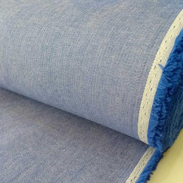 Holm Sown Online Fabric Shop - Stretch Denim Blue dressmaking fabric
