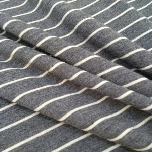 Holm Sown Online Fabric Shop - Viscose Jersey - Denim Stripe dressmaking fabric