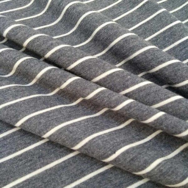 Holm Sown Online Fabric Shop - Viscose Jersey - Denim Stripe dressmaking fabric