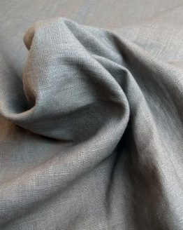 Holm Sown Online Fabric Shop | Washed Linen - Grey | dressmaking fabric