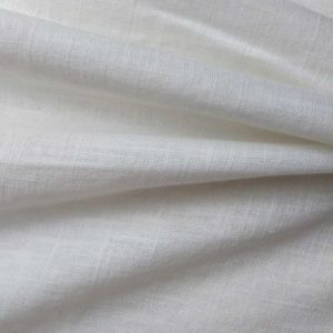Holm Sown Online Fabric Shop | Washed Linen - White | dressmaking fabric