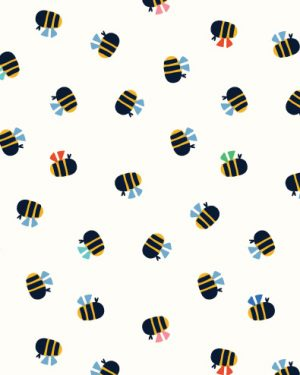 Holm Sown Online Fabric Shop - Dashwood Studio Eden Pop Bumblebees 1326