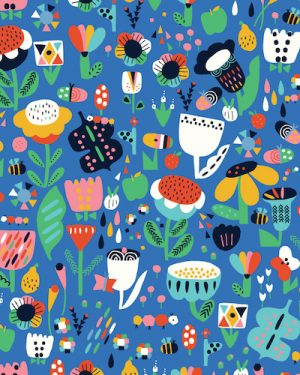 Holm Sown Online Fabric Shop - Dashwood Studio Eden Pop Garden Flowers 1327