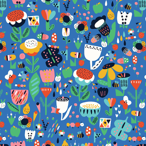 Holm Sown Online Fabric Shop - Dashwood Studio Eden Pop Garden Flowers 1327