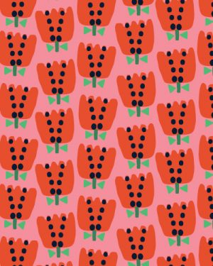 Holm Sown Online Fabric Shop - Dashwood Studio Eden Pop Tulips 1325