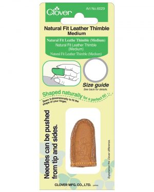 Holm Sown online fabric & haberdashery shop - Clover Natural Fit Leather Thimble - CL6029