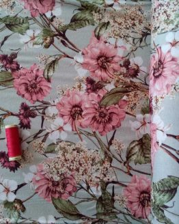 Holm Sown Online Fabric Shop - Lady McElroy Jersey Floraison dressmaking fabric