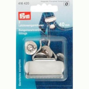 Holm Sown online fabric & haberdashery shop - Prym Dungaree and Overall Fittings 40mm- P416420