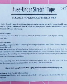 Legacy Fuse-Under Stretch Tape / Wonder-Under. 15mm two-sided self adhesive fusible tape - Holm Sown
