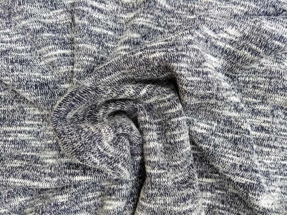 Polyester Jersey Navy Slub Knit