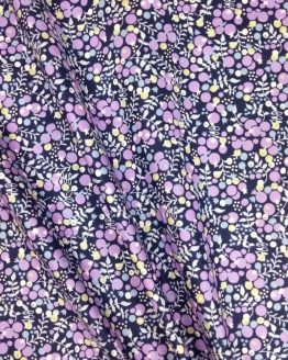 Pima Cotton Lawn - Berries Blue/Purple - dressmaking fabric