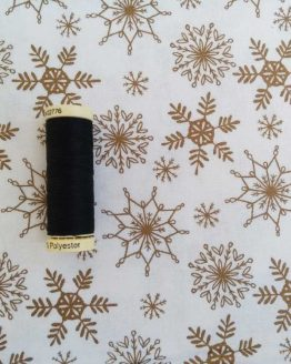 Holm Sown Online Fabric Shop   Be Jolly Snowflake Metallic Christmas Fabric - quilting cotton - Holm Sown