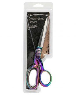 "Holm Sown Online Fabric & Haberdashery Shop - Hemline Rainbow Oil-Slick Metal Dressmaking Scissors 8.25"" / 21cm"