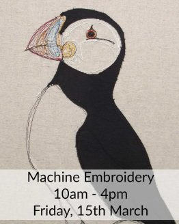 Free Motion Embroidery Sewing Class with Delicate Stitches - Friday 15th March 2019 - learn to draw with thread