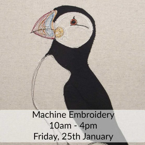 Free Motion Embroidery Sewing Class with Delicate Stitches - Friday 25th January 2019 - learn to draw with thread