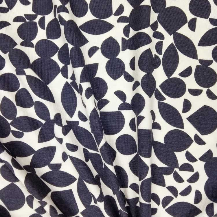 ed08ac367ae Holm Sown Online Fabric Shop - Viscose Jersey Shapes Blue-Grey -  dressmaking fabric