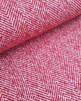 Holm Sown Online Fabric Shop - Woollen Wool Mix Red Herringbone dressmaking fabric