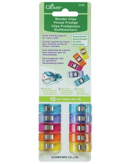 Holm Sown Online Fabric Shop - Clover Wonder Clips Rainbow - pack of 10 | Quilt Binding Clips | Bag Making Clips CL3185