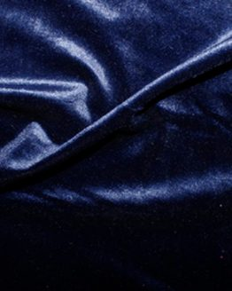 Holm Sown Online Fabric Shop - Luxury Stretch Velvet Navy