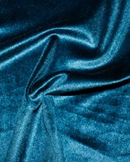 Holm Sown Online Fabric Shop - Luxury Stretch Velvet Petrol Teal