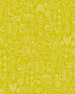 Holm Sown Online Fabric Shop - Alison Glass Sun Print 2019 Collection Chartreuse 9036_G 100% quilting cotton