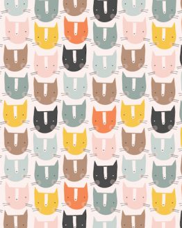 Holm Sown Online Fabric Shop - Emi & The Bird by Jilly P for Dashwood Studio - Emi Cats EMI1403
