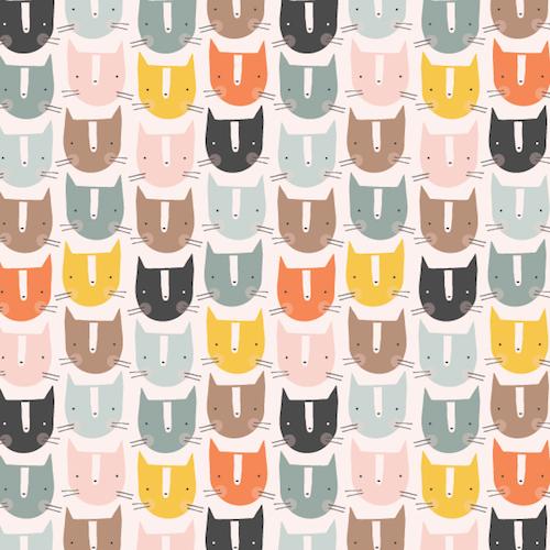Holm Sown Online Fabric Shop - Emi & The Bird by Jilly P for Dashwood Studio - Emi Cats EMI1403
