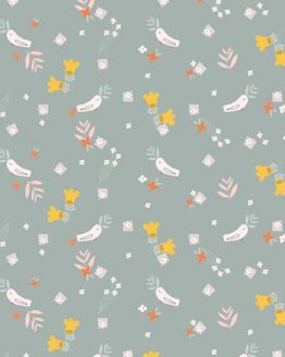 Holm Sown Online Fabric Shop - Emi & The Bird by Jilly P for Dashwood Studio - Birds Grey EMI1405