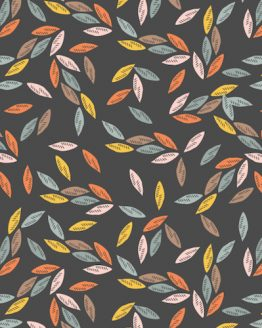 Holm Sown Online Fabric Shop - Emi & The Bird by Jilly P for Dashwood Studio - Leaves Charcoal EMI1407