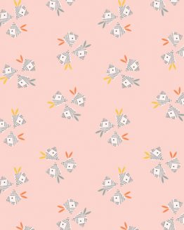 Holm Sown Online Fabric Shop - Emi & The Bird by Jilly P for Dashwood Studio - Floral Pink EMI1408