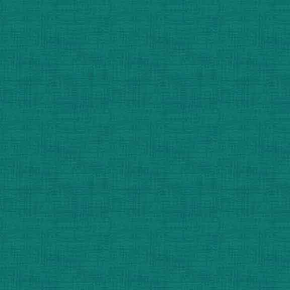 Cotton Fabric  Fat Quarter Makower Teal Linen Texture